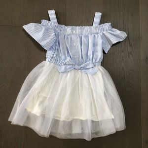 Shein Girls Cold Shoulder Tulle Dress
